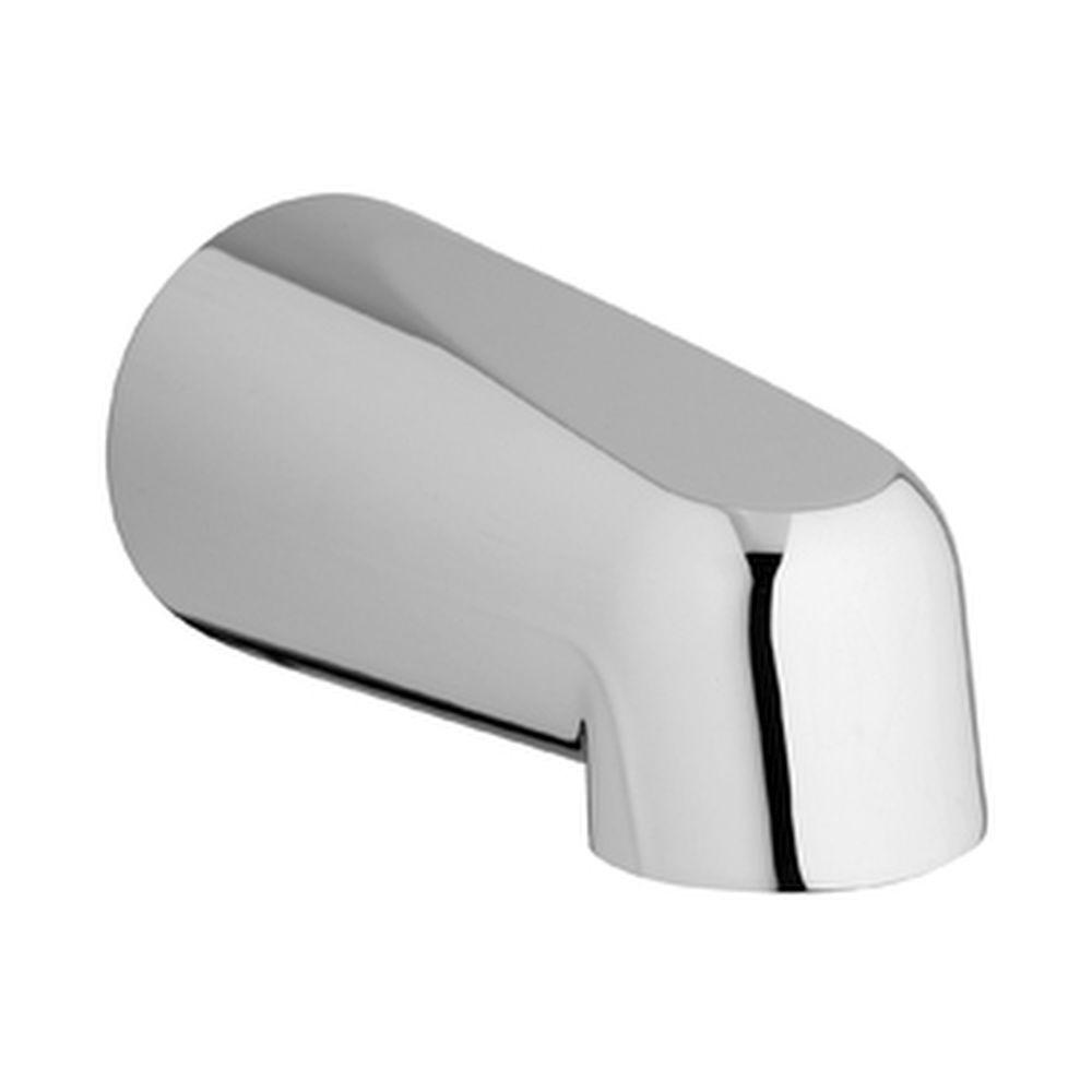 GROHE 5 in. Non-Inverting Wall-Mounted Tub Spout in Chrome, Starlight Chrome