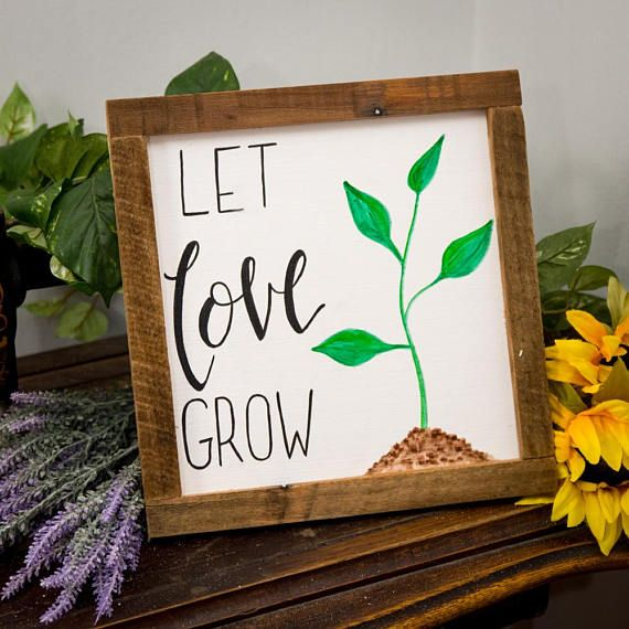 Let Love Grow Rustic Spring Signs Decor