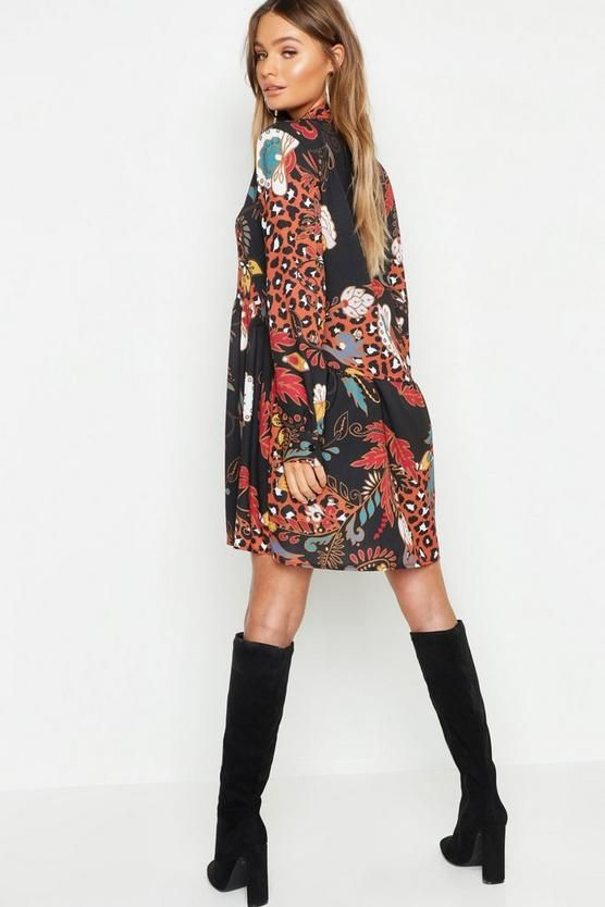bee93197ce32 Boho Mix Print Oversized Smock Dress in 2019 | $ Spring & Summer ...