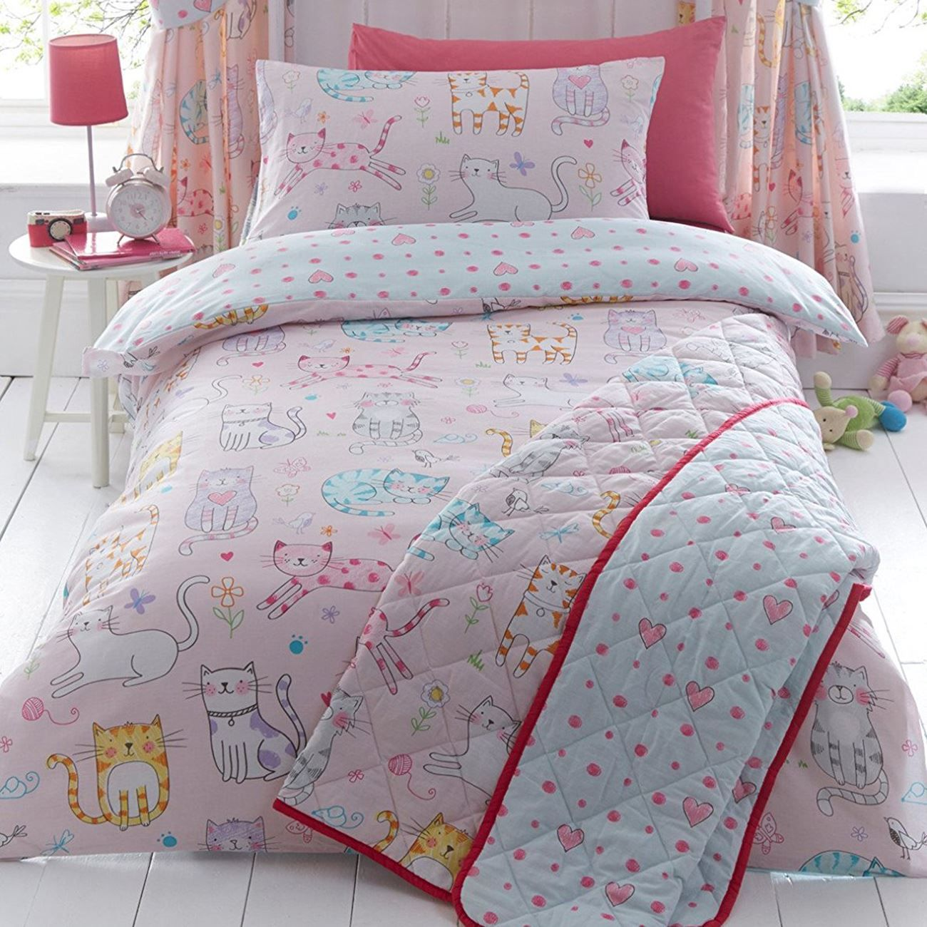 Girls Single Duvet Cover Sets Bedding Unicorn Flower Horse Heart