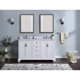 Buy Member S Mark Channing 60 Inch Vanity Vanities Bathroom Furniture At Samsclub Com In 2020 60 Inch Vanity Vanity Drawer Design