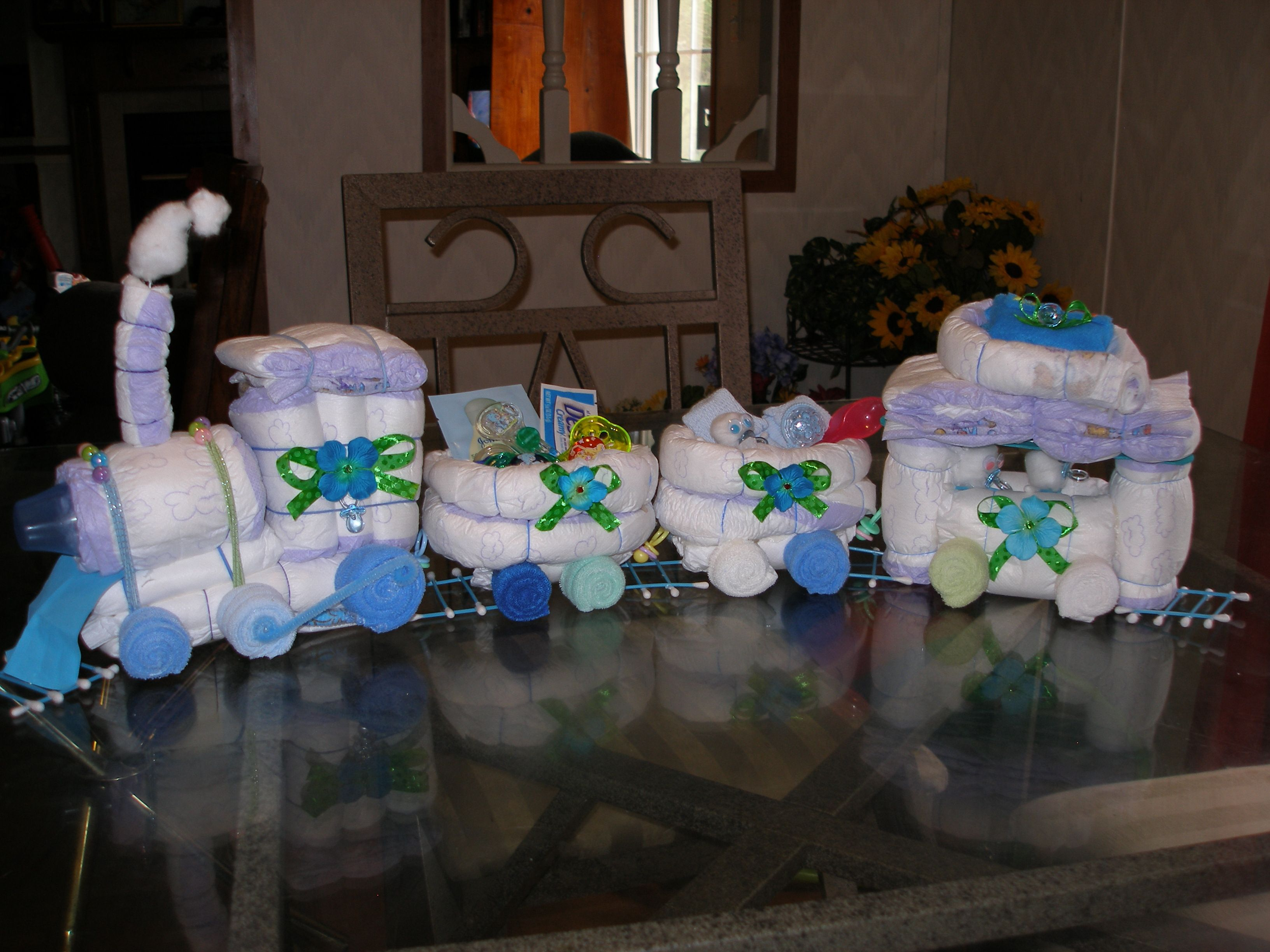 Made By Angela Gulledge Diaper Train Train Baby Shower Baby