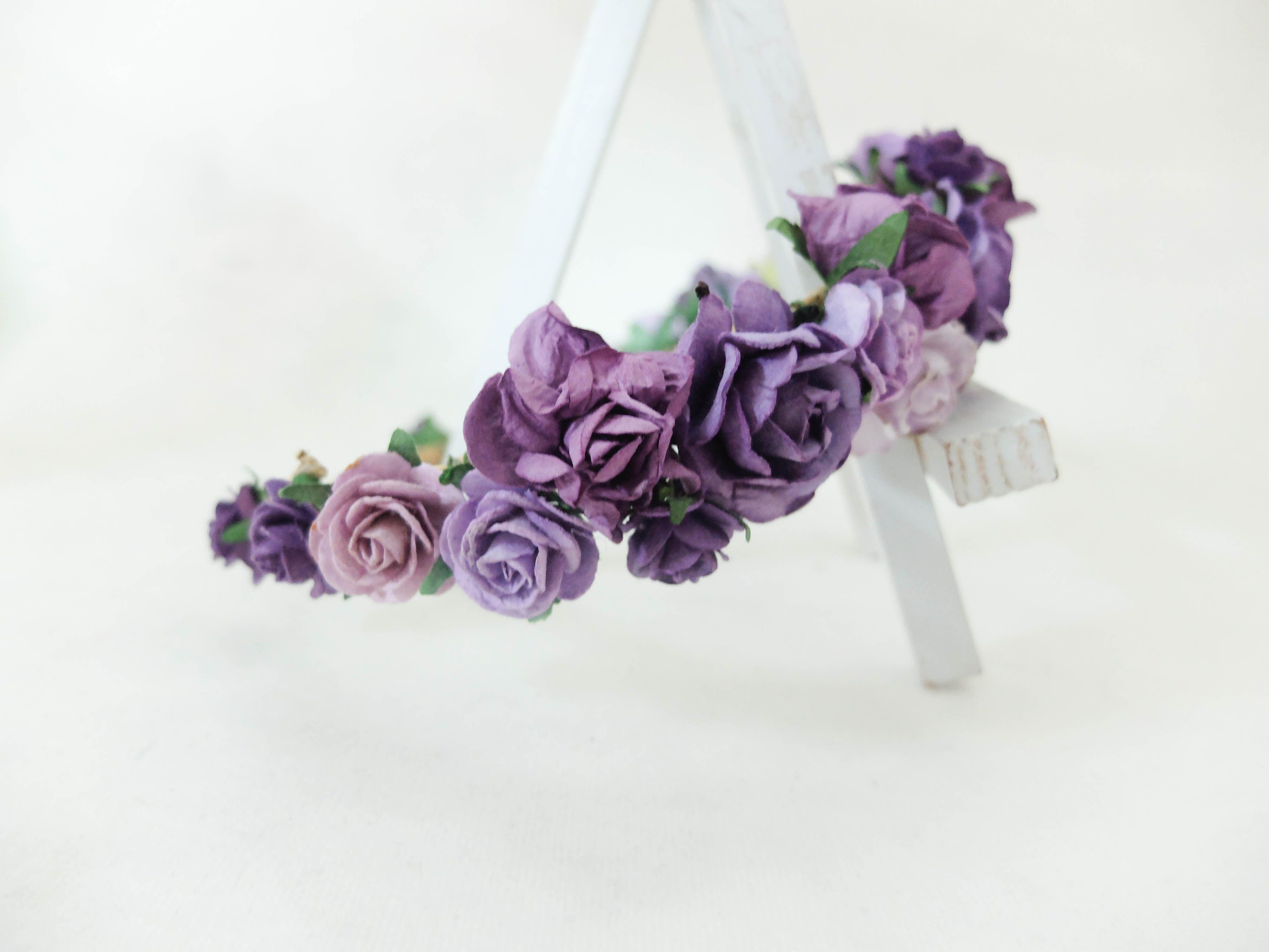 Image result for purple flower crown wedding flowers for irvin and image result for purple flower crown izmirmasajfo