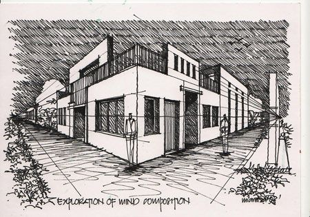 Perspective Drawings Of Buildings buildings in two point perspectiv | two point perspective: street