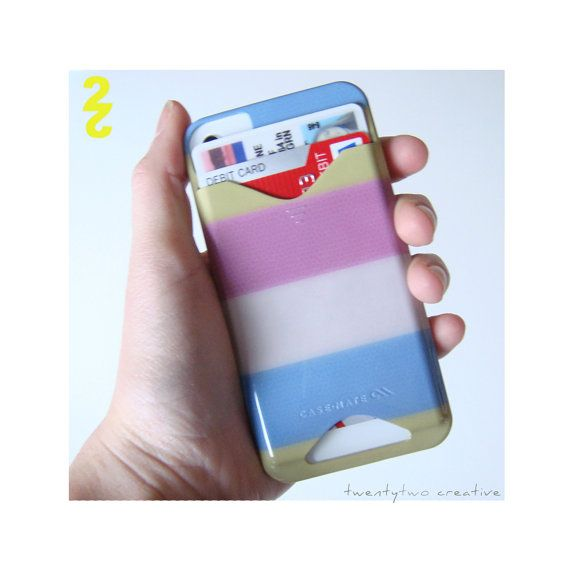 Summer Stripe ID holder Iphone Case by twenty2boutique on Etsy, $40.00