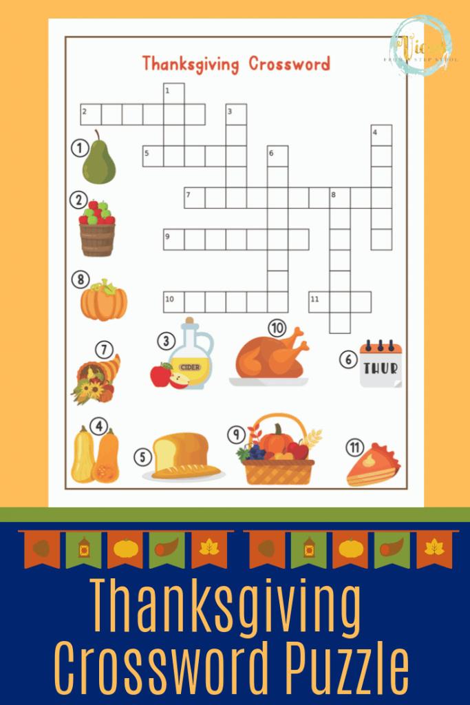 Thanksgiving Printable Games: I Spy, Maze, Crossword ...