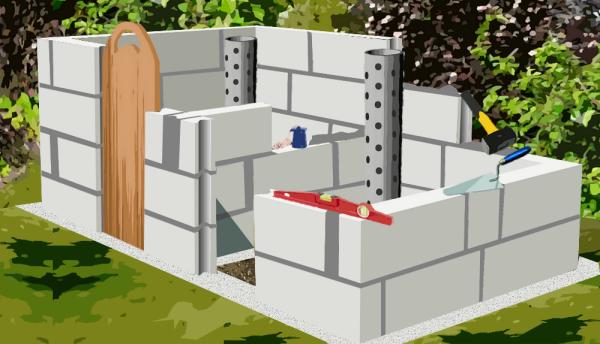 Construire Un Composteur En Parpaing Plan De Construction Composteur Plan Abris De Jardin Plans De Construction