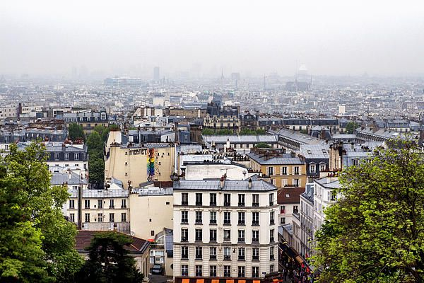 Over The Roofs Of Paris Photograph