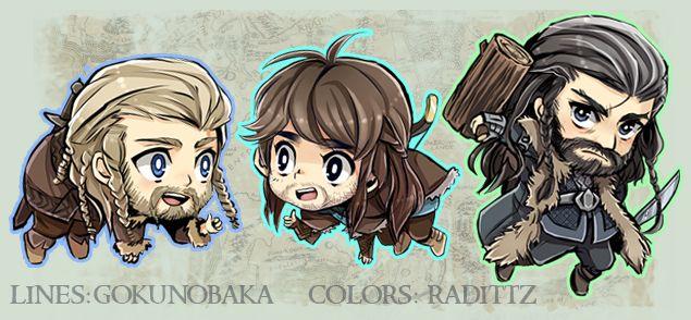 Hobbit Kawaii Dwarfs Keychains by Radittz.deviantart.com on @deviantART