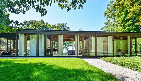 Mid century glass house by David Haid | Glass houses, Mid century ...