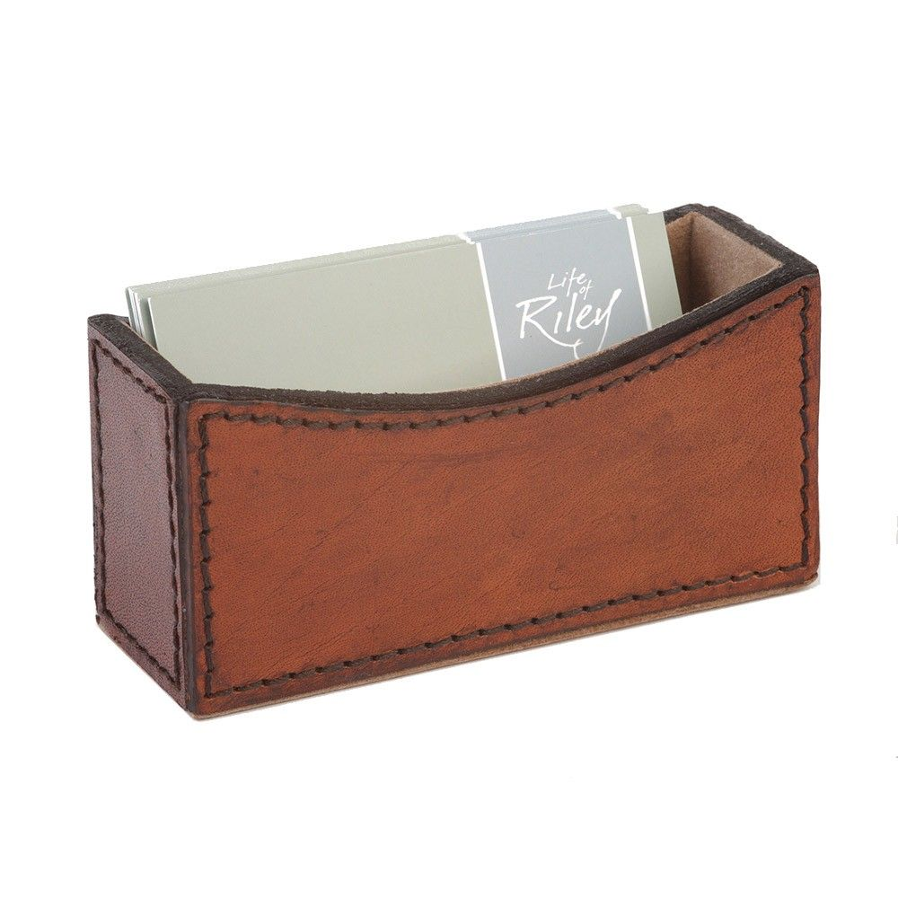 Life Of Riley Leather Business Card Holder Buffalo Leather Designer Business Card Holder Prese Card Holder Desk Leather Business Cards Business Card Holders