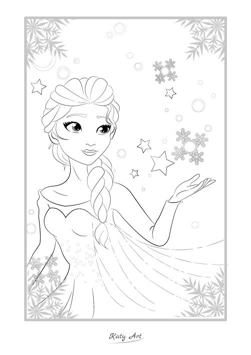 Elsa aus Frozen | Ausmalbild | Ausmalbilder | Malvorlagen | coloring ...