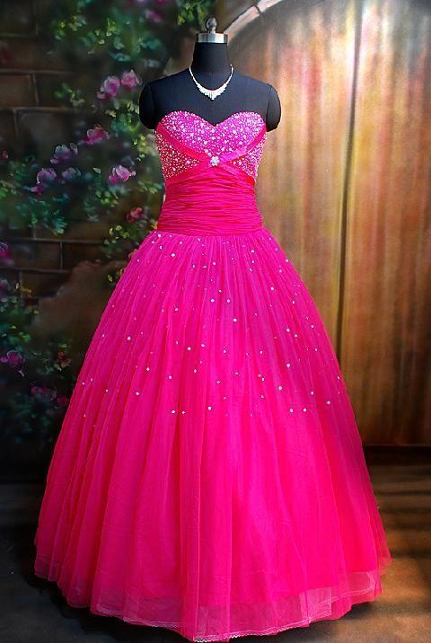 I Heart Wedding Dress: Hot Pink Wedding Dress | Wedding Ideas ...