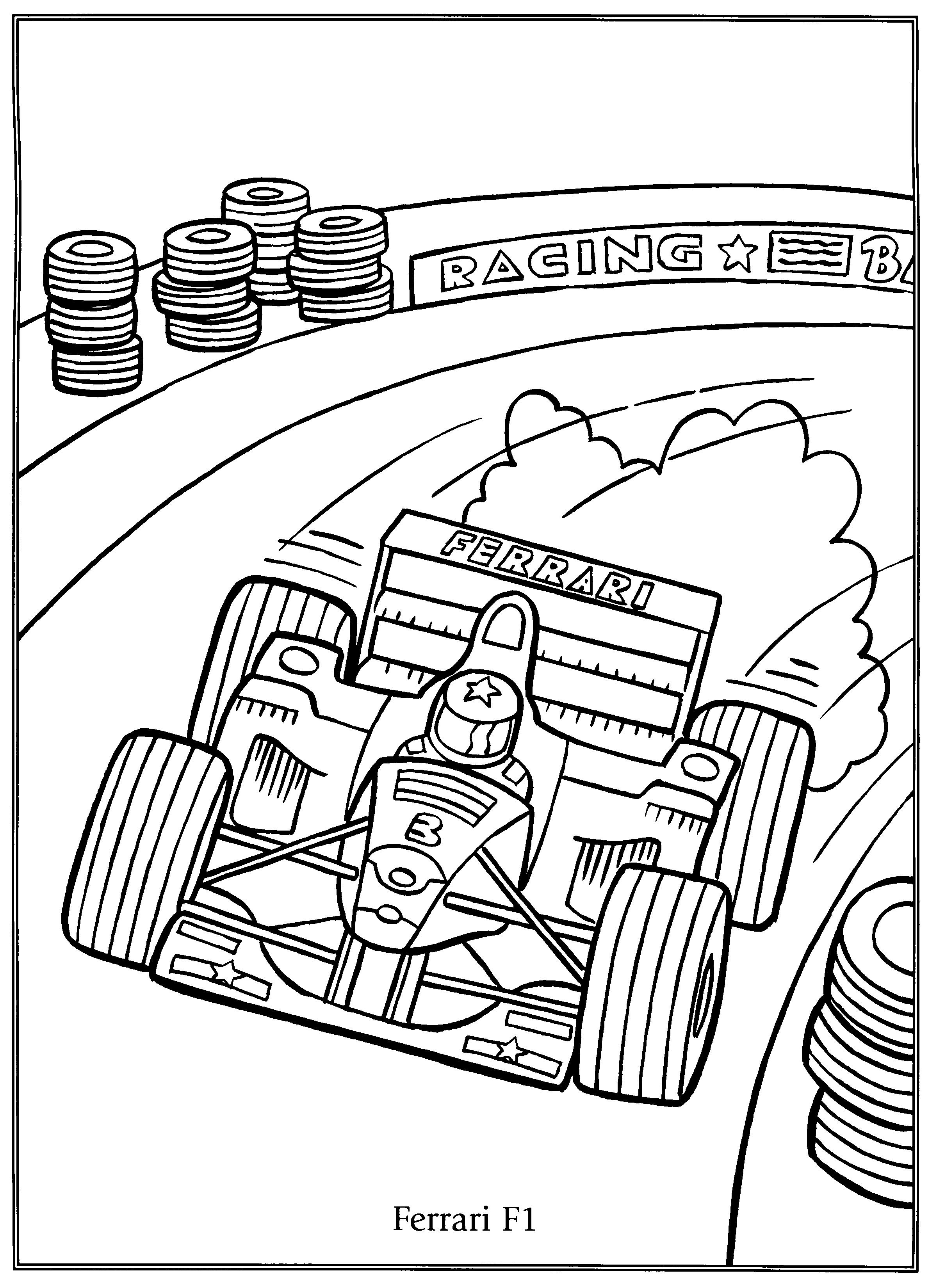 Kleurplaat Ferrari F1