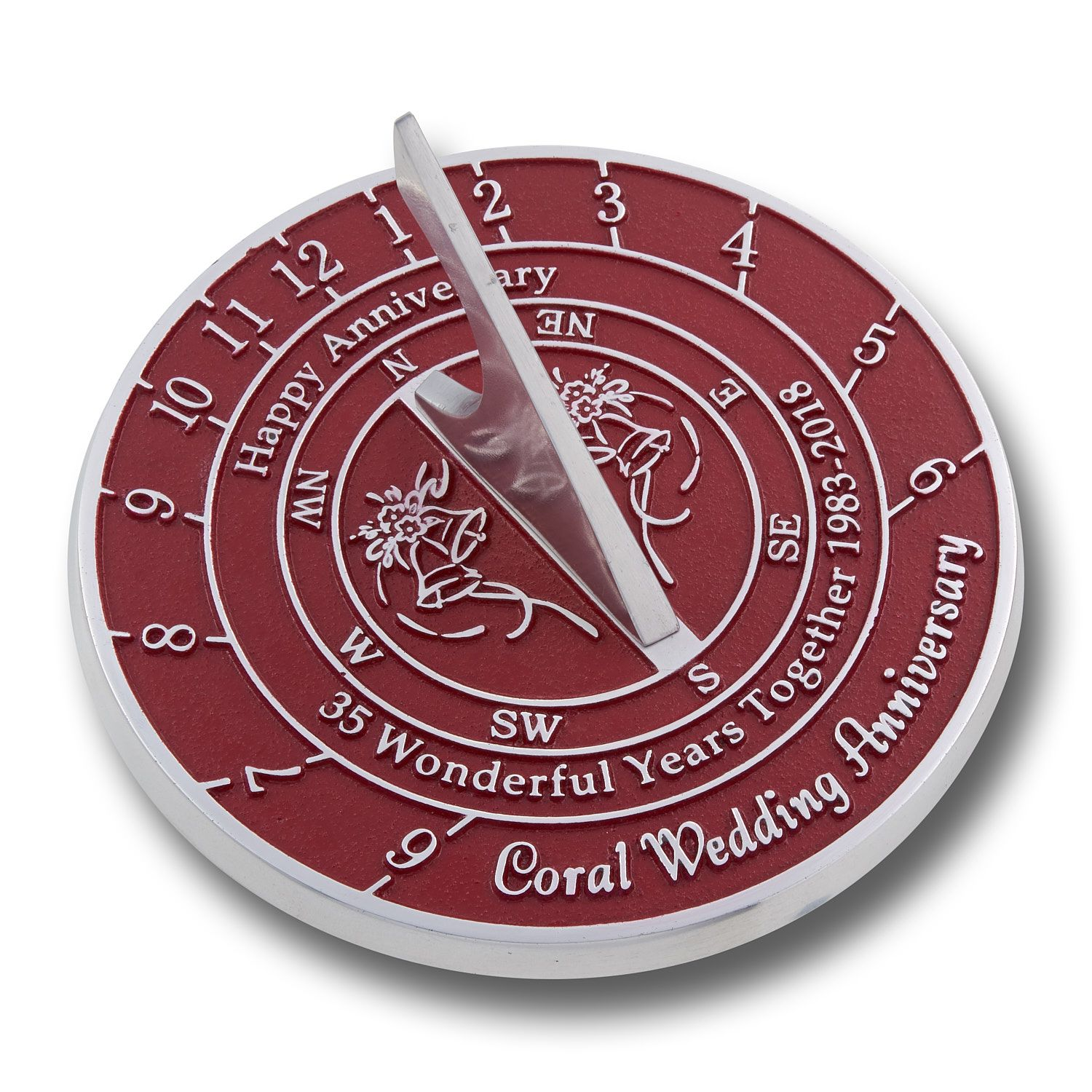 40th ruby wedding anniversary sundial gift presents for