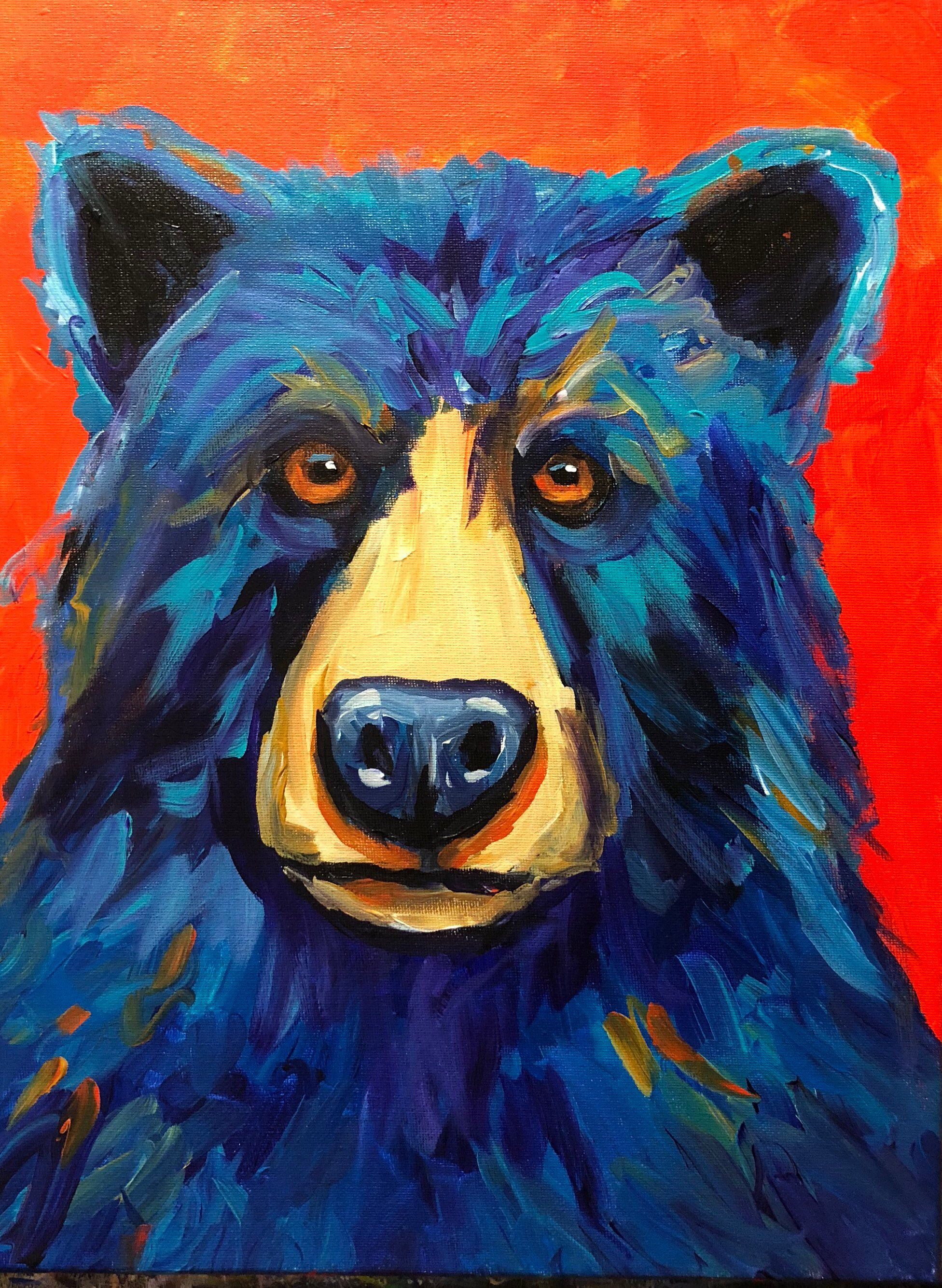 Bear Art Abstract