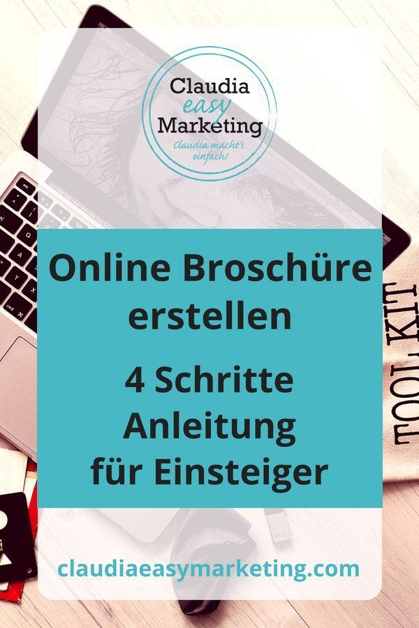 Online Broschüre erstellen für Einsteiger Marketing