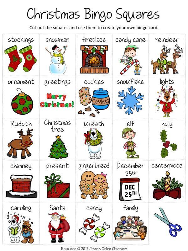 Christmas FREE | Christmas bingo, Christmas bingo cards ...