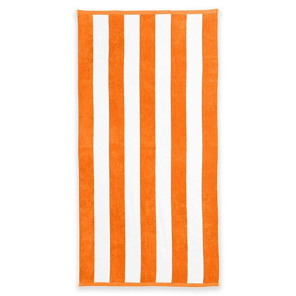Great Bay Home Cabana Beach Towels In Orange Set Of 2 With
