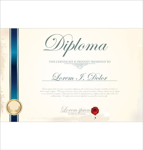 Best Certificate template design vector 01 Resources Pinterest - certificate designs templates