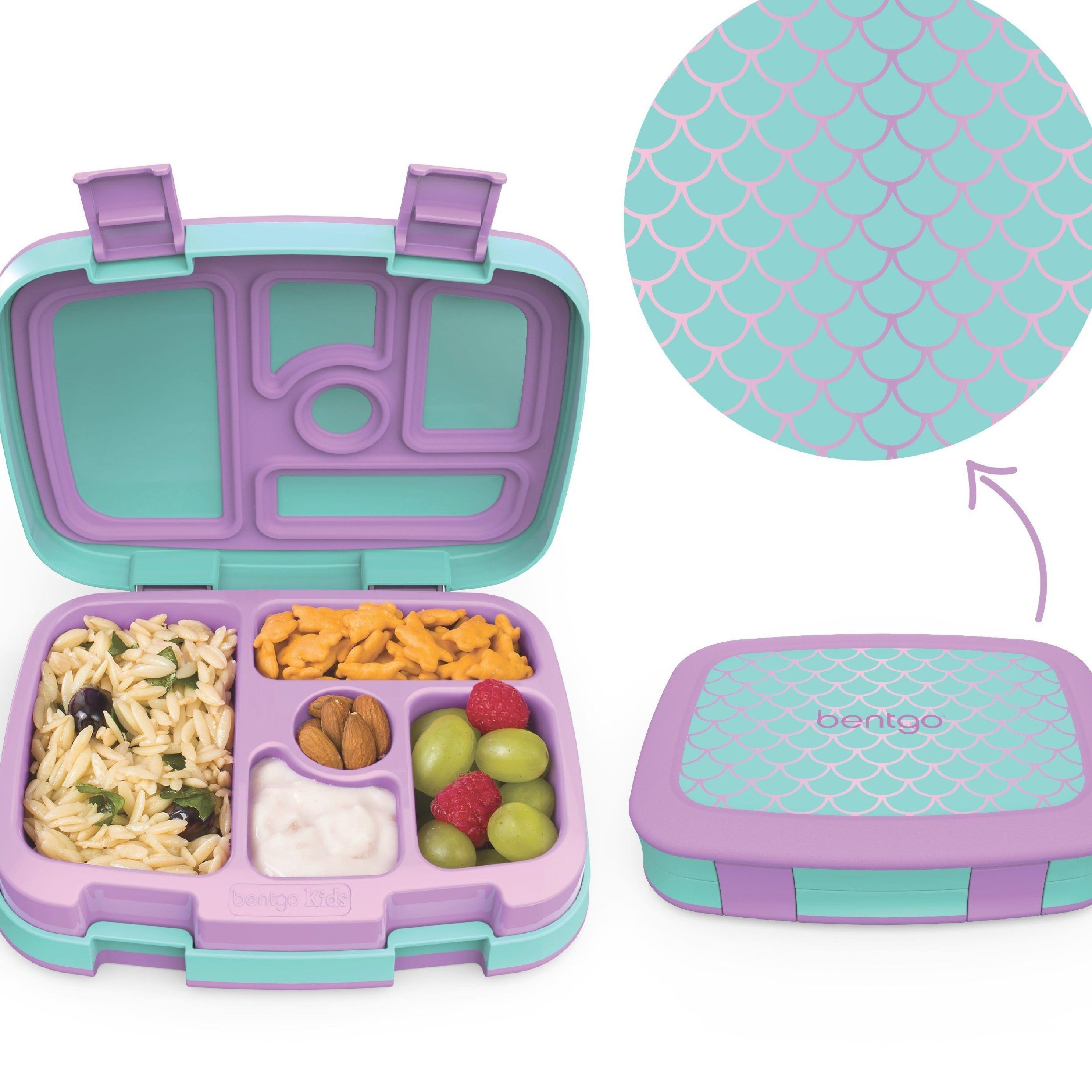 Bentgo Kids Prints – 5-Compartment Bento-Style Kids Lunch Box – Carey&CleanEatingS