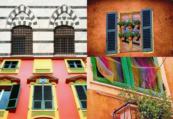 The windows of the houses in Italy #travel