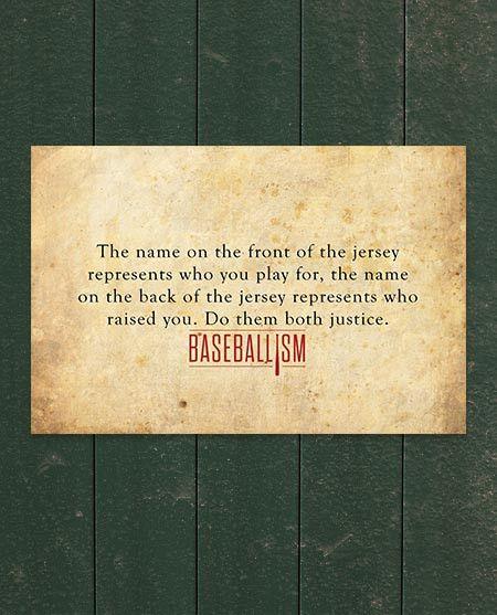 Name On The Jersey Baseball Quotes Baseball Boys Baseball Mom