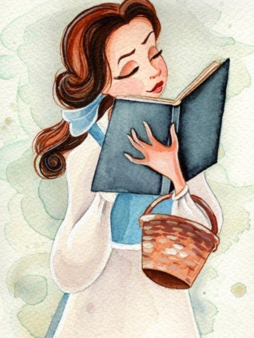 disney, belle, and book afbeelding