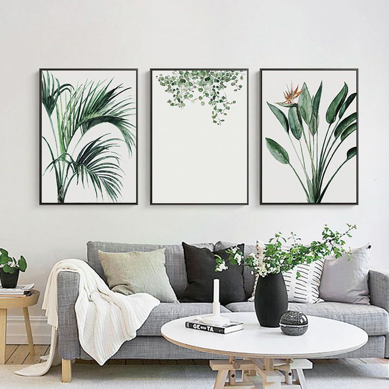 Gold Plant Luxury Picture Home Decor Wall Art Canvas Painting Abstract Fresh Leaves Posters And Prints Art Decor For Living Room In 2021 Picture Wall Living Room Wall Art Living Room