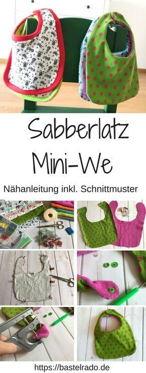 Sabberlatz Mini-We – instructions de couture y compris le patron de couture »BASTELRADO   – DIY und Selbermachen