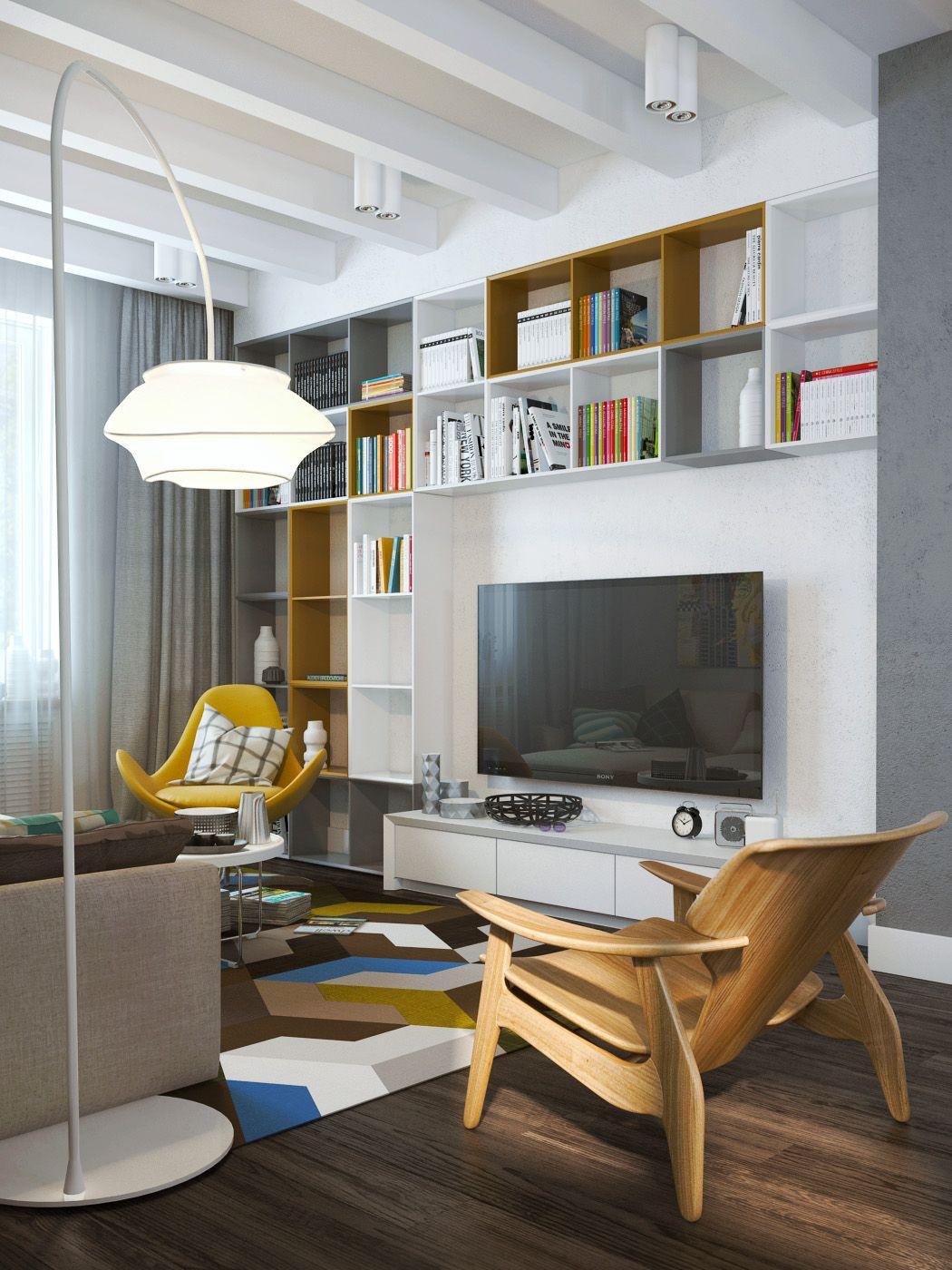 Interior Design Living Room Walls: Exposed Concrete Walls Ideas & Inspiration