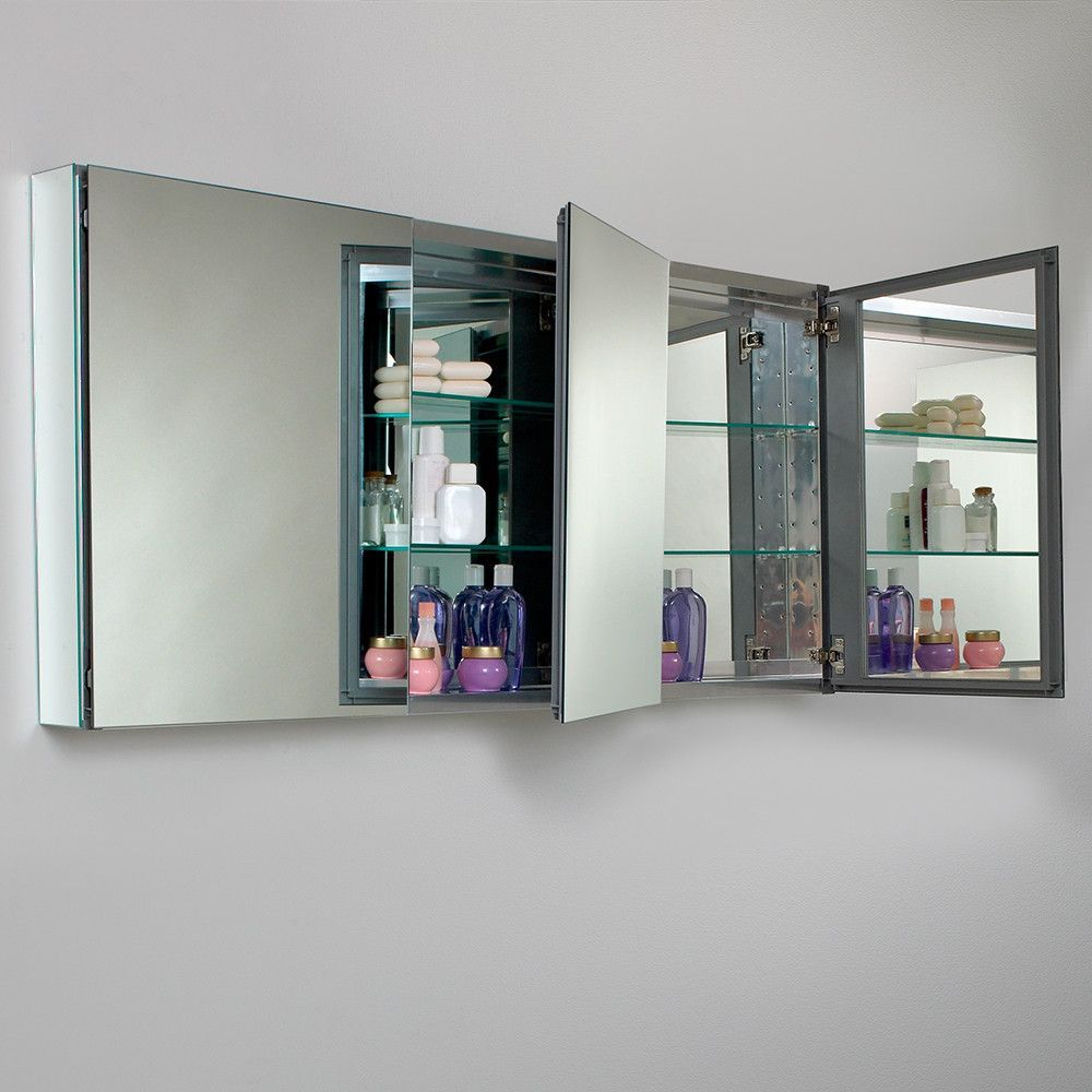Fresca 60 Wide Bathroom Medicine Cabinet W Mirrors