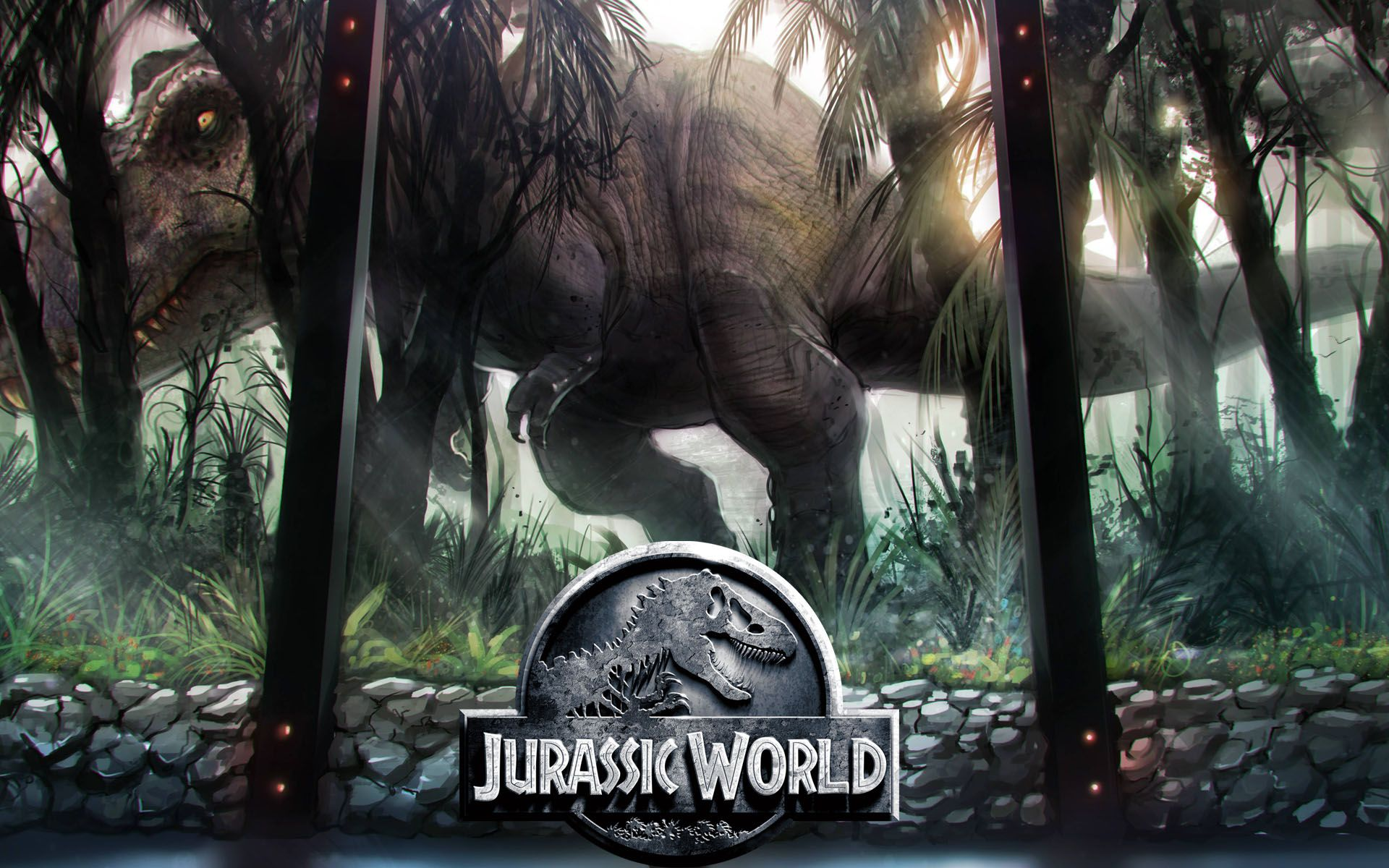 Jurassic World Poster Artwork Wallpaper | Movie Wallpaper ...