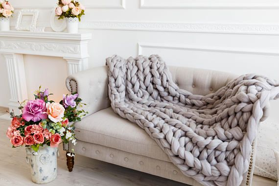 Bulky Knit Throw Blankets Organic Merino Wool Soft Massive Couch Throw Cover Giant Knitted Oversized Bed Throws Gifts On Christmas Day Knitted Throws Chunky Knit Throw Blanket Couch Throws