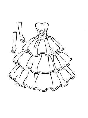Imagenes de vestidos de novia para dibujar