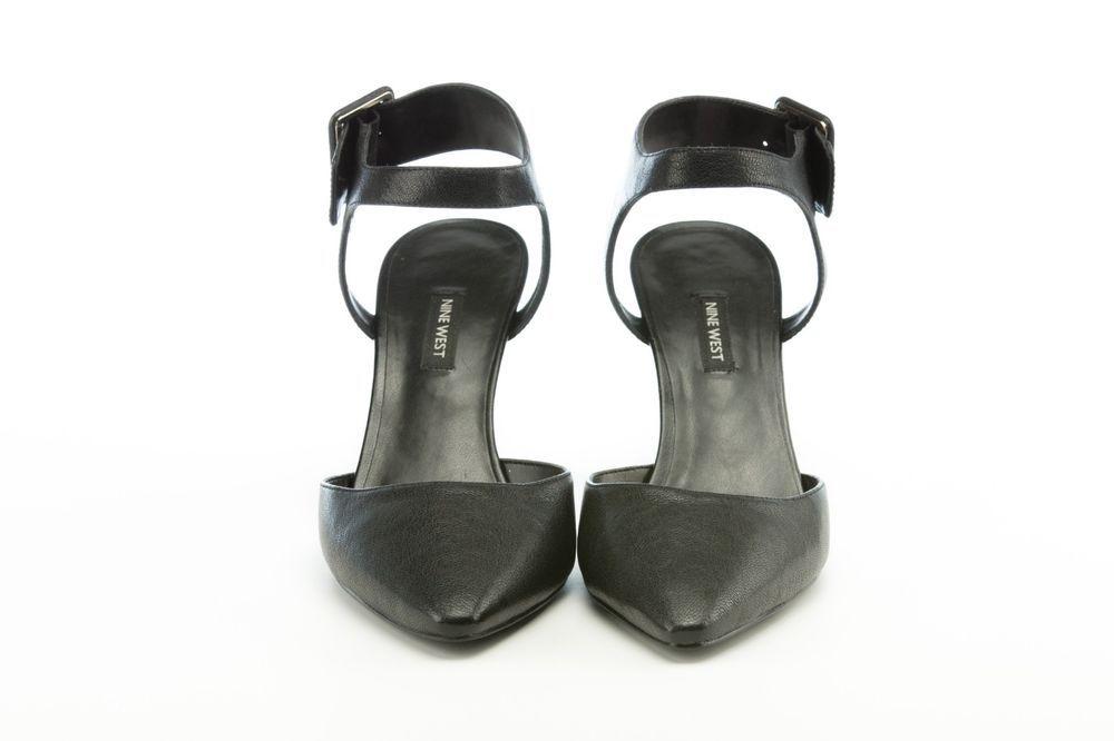 4800a561471 Heel Nine West Elisabeti Heel Black Leather Size 11 Pre-owned  fashion   clothing