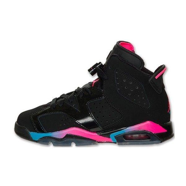 black blue and pink jordans