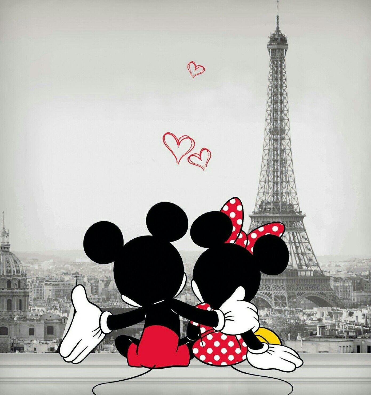 Mickey And Minnie In Paris Mickeymouse Paris Minniemouse