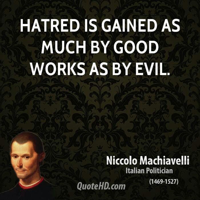 machiavelli evil