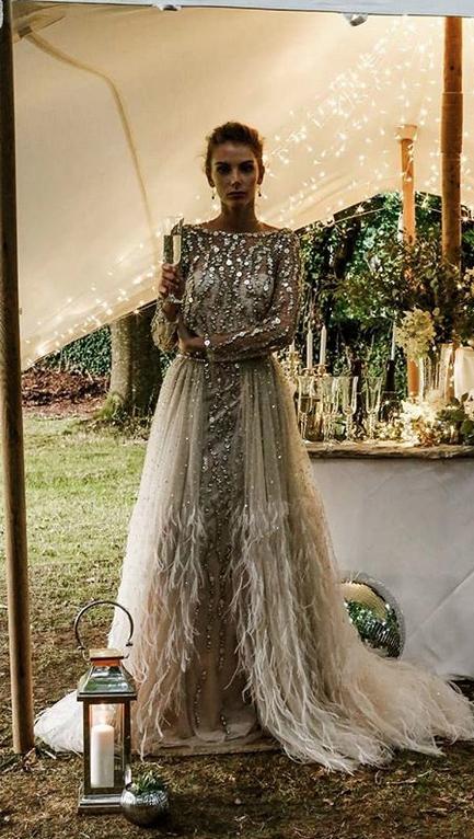 Heuer Tragen Alle Braute Gold Braut Kleider Hochzeitskleid Spitze