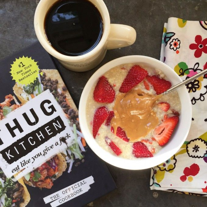 thug kitchen green smoothie 5 minute quinoa cereal and thug kitchen cookbook 6110