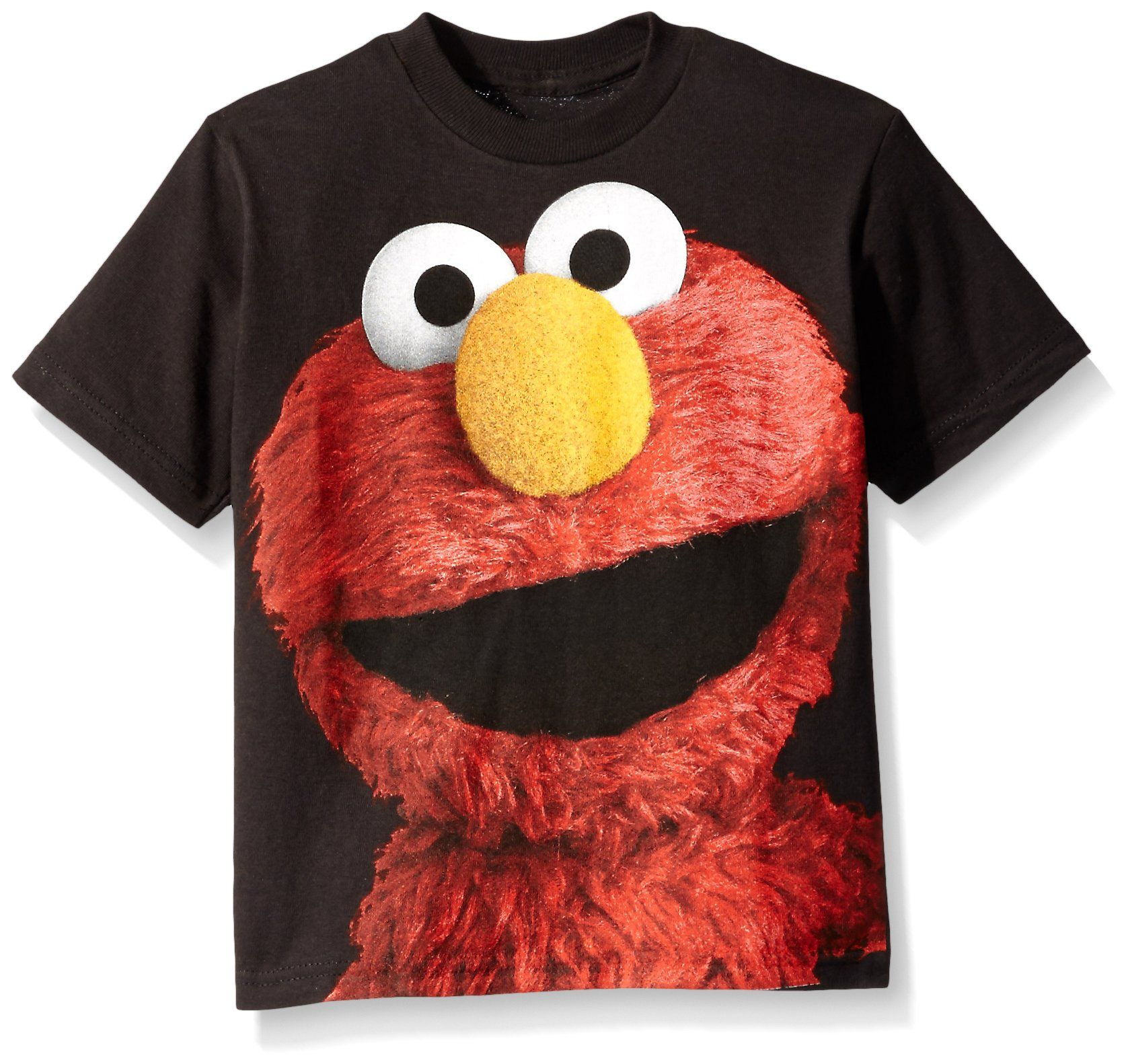 ELMO Sesame Street Kid/'s Red cotton short sleeve cartoon Character crew T Shirt