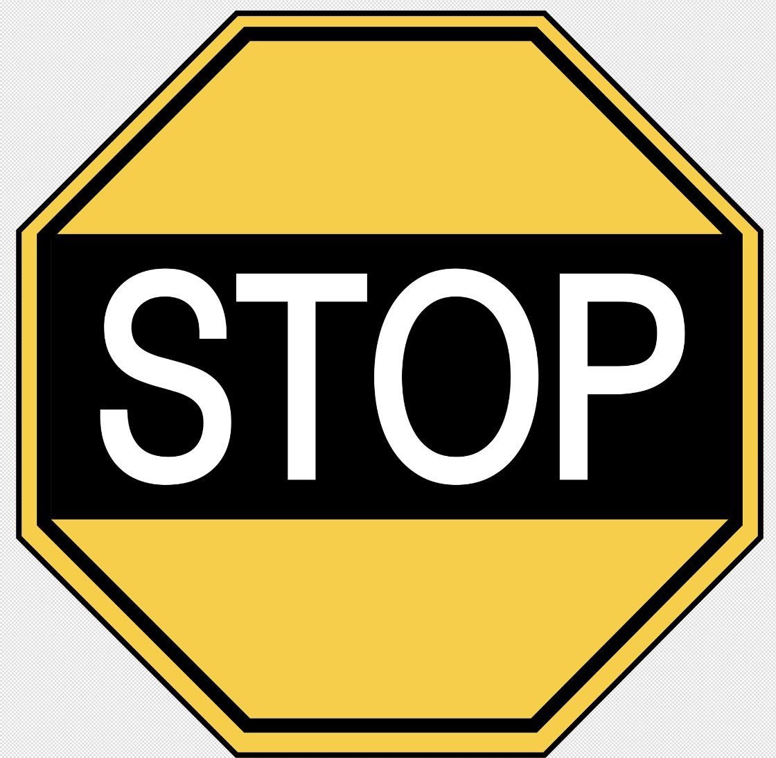 Australian yellow vintage stop sign 19561964 stop sign