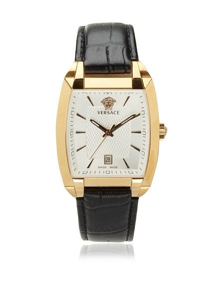 8a58f09d36b Versace Men's Tonneau Gold Plated Watch at MYHABIT | My Style ...
