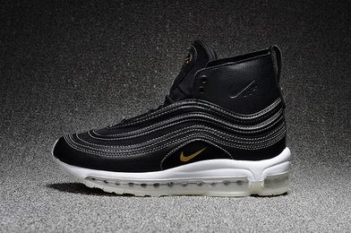 709d8197161ed9 Nike Air Max 97 Mid Rt Riccardo Tisci Black Metallic Gold Anthracite  913314.001 Factory Authentic Sneaker