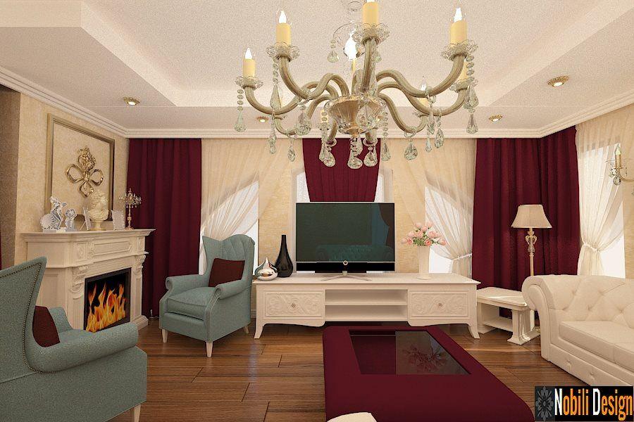 Design interior living clasic casa Bucuresti Servicii