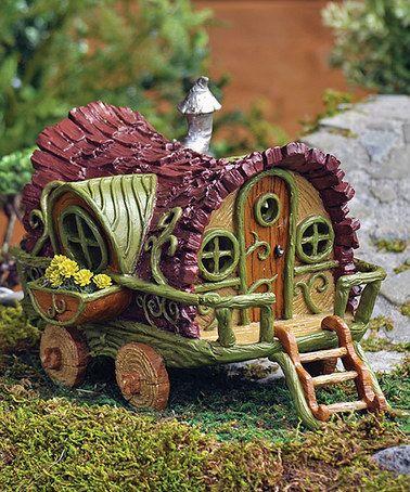Gypsy Wagon Mini Figurine By Georgetown Home And Garden