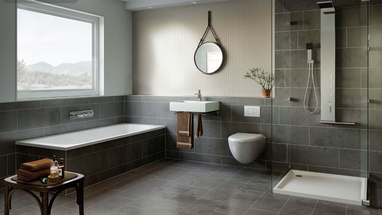 Escena 3d Gratis The Bathroom Gray | Region Studio ...