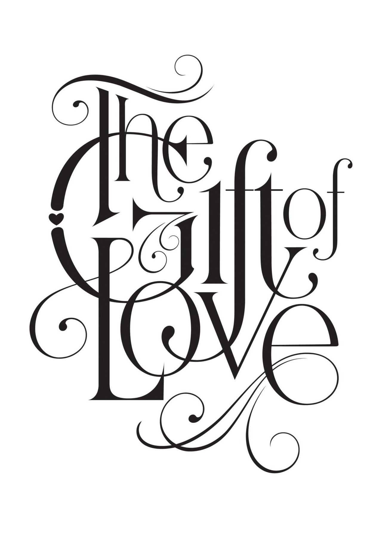 The Gift Of Love Typography Alex Typography