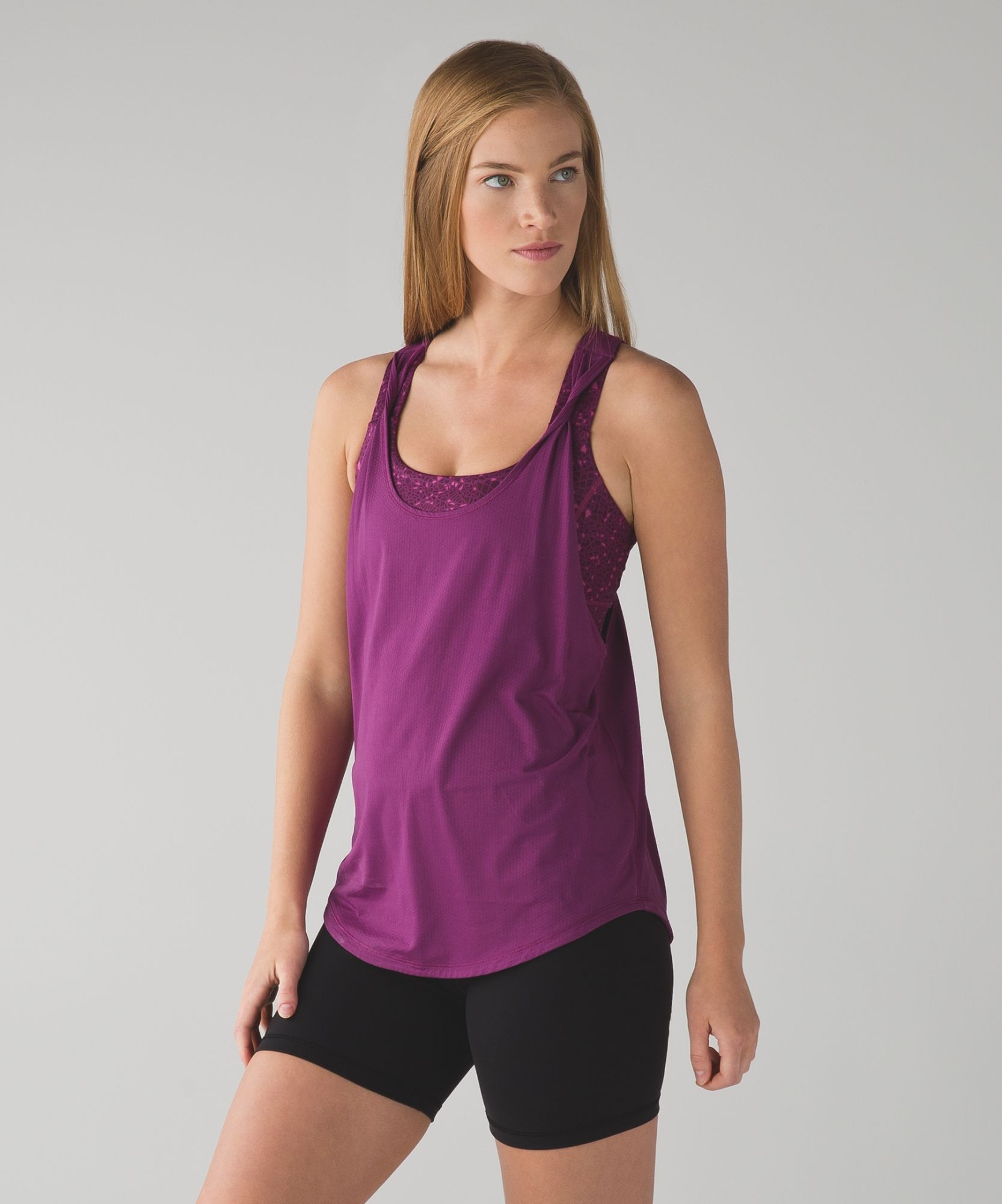 lululemon - medium support tank and bra duo - love it - love the colors - love the back #workout #fasion #sports